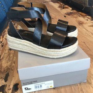 Franco Sarto leather platforms